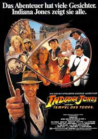 Indiana Jones and the Temple of Doom - 27 x 40 Movie Poster - German Style A