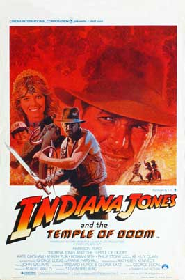 Indiana Jones and the Temple of Doom - 11 x 17 Movie Poster - Belgian Style A