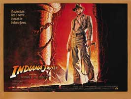 Indiana Jones and the Temple of Doom - 11 x 14 Movie Poster - Style I