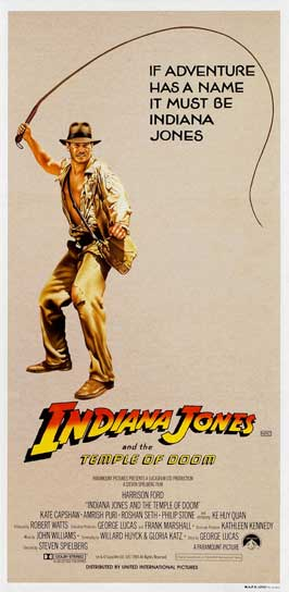 Indiana Jones and the Temple of Doom - 13 x 30 Movie Poster - Australian Style A