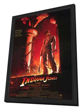 Indiana Jones and the Temple of Doom - 11 x 17 Movie Poster - Style B - in Deluxe Wood Frame