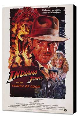 Indiana Jones and the Temple of Doom - 11 x 17 Movie Poster - Style A - Museum Wrapped Canvas