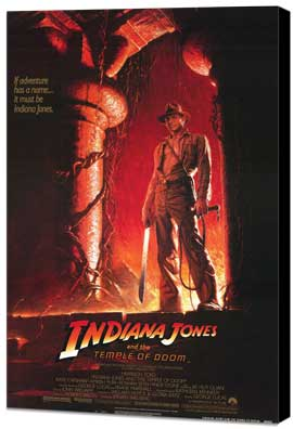 Indiana Jones and the Temple of Doom - 27 x 40 Movie Poster - Style B - Museum Wrapped Canvas