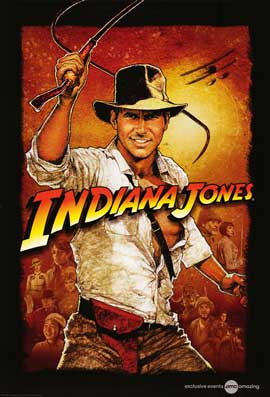 Indiana Jones and the Temple of Doom - 43 x 62 Movie Poster - Bus Shelter Style E