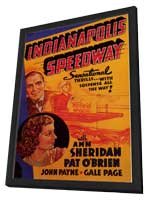 Indianapolis Speedway - 11 x 17 Movie Poster - Style A - in Deluxe Wood Frame
