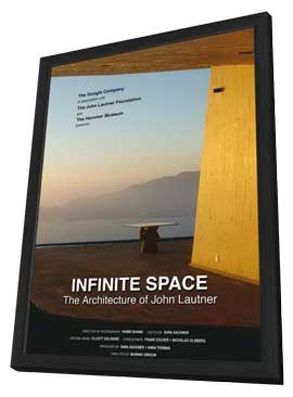 Infinite Space: The Architecture of John Lautner - 11 x 17 Movie Poster - Style A - in Deluxe Wood Frame
