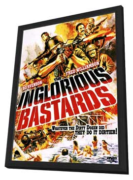 Inglorious Bastards - 27 x 40 Movie Poster - Style B - in Deluxe Wood Frame