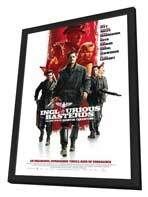 Inglourious Basterds - 27 x 40 Movie Poster - Style E - in Deluxe Wood Frame