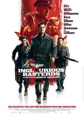 Inglourious Basterds - 27 x 40 Movie Poster - German Style B