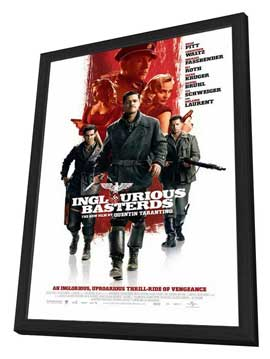 Inglourious Basterds - 11 x 17 Movie Poster - Style J - in Deluxe Wood Frame