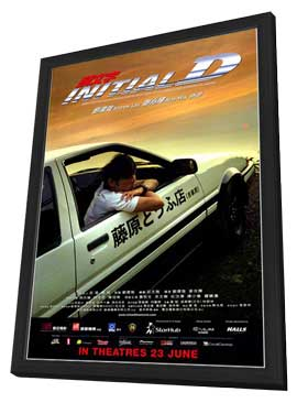 Initial D - 11 x 17 Movie Poster - Style B - in Deluxe Wood Frame