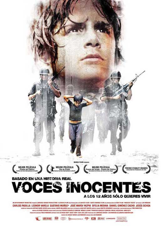 innocent voices Innocent voices is a true story of an 11-year-old boy growing up in war-torn el salvador who, by age 12, will be recruited to fight for the military or the opposition.