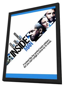 Inside Man - 11 x 17 Movie Poster - Style E - in Deluxe Wood Frame