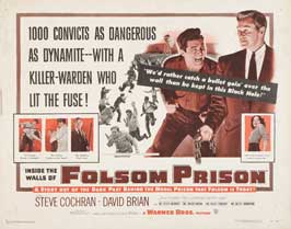 Inside the Walls of Folsom Prison - 22 x 28 Movie Poster - Half Sheet Style A