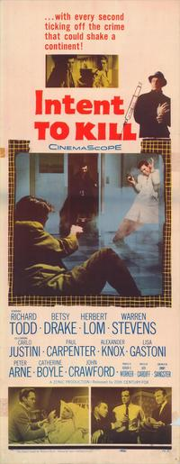 Intent To Kill - 14 x 36 Movie Poster - Insert Style A