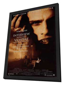 Interview with the Vampire - 11 x 17 Movie Poster - Style A - in Deluxe Wood Frame