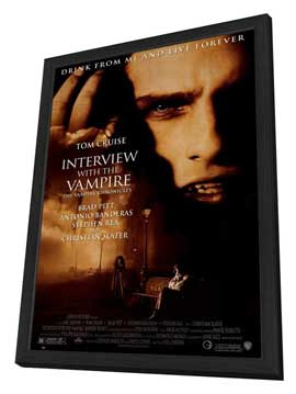 Interview with the Vampire - 27 x 40 Movie Poster - Style A - in Deluxe Wood Frame