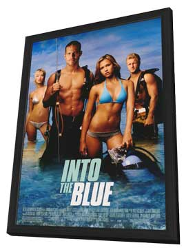Into the Blue - 11 x 17 Movie Poster - Style A - in Deluxe Wood Frame
