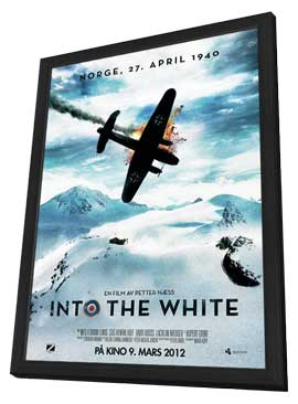 Into the White - 11 x 17 Movie Poster - Norwegian Style A - in Deluxe Wood Frame