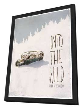 Into The Wild - 27 x 40 Movie Poster - Style F - in Deluxe Wood Frame