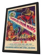 Invaders from Mars - 11 x 17 Movie Poster - Style A - in Deluxe Wood Frame