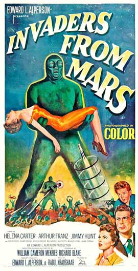 Invaders from Mars - 14 x 36 Movie Poster - Insert Style B