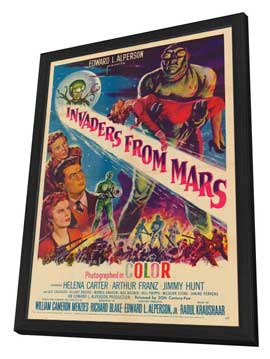 Invaders from Mars - 27 x 40 Movie Poster - Style A - in Deluxe Wood Frame
