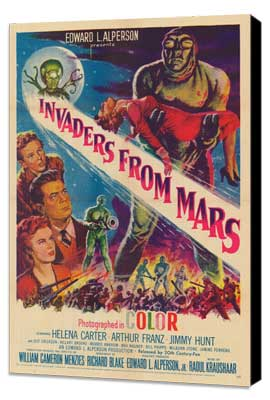 Invaders from Mars - 27 x 40 Movie Poster - Style A - Museum Wrapped Canvas