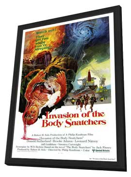 Invasion of the Body Snatchers - 27 x 40 Movie Poster - Style C - in Deluxe Wood Frame
