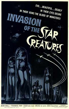 Invasion of the Star Creatures - 11 x 17 Movie Poster - Style A