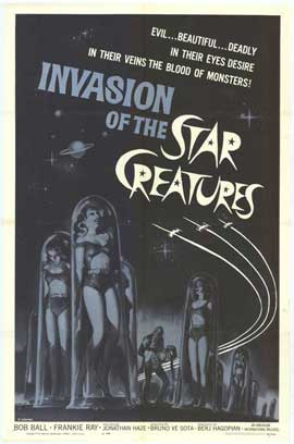 Invasion of the Star Creatures - 27 x 40 Movie Poster - Style A