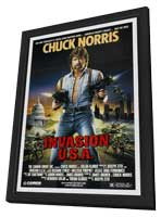 Invasion USA - 27 x 40 Movie Poster - Style B - in Deluxe Wood Frame