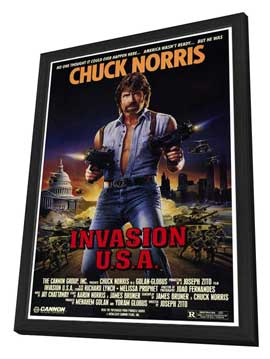 Invasion U.S.A. - 27 x 40 Movie Poster - Style A - in Deluxe Wood Frame