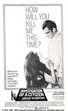 Investigation of a Citizen Above Suspicion - 11 x 17 Movie Poster - Style C