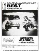 Investigation of a Citizen Above Suspicion - 11 x 17 Movie Poster - Style D