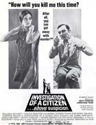 Investigation of a Citizen Above Suspicion - 27 x 40 Movie Poster - Style E