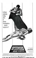 Investigation of a Citizen Above Suspicion - 11 x 17 Movie Poster - Style F