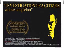 Investigation of a Citizen Above Suspicion - 11 x 14 Movie Poster - Style E