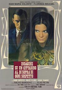 Investigation of a Citizen Above Suspicion - 11 x 17 Movie Poster - Italian Style B