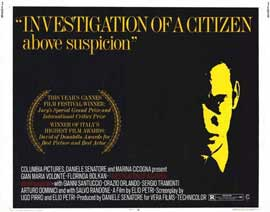 Investigation of a Citizen Above Suspicion - 22 x 28 Movie Poster - Half Sheet Style A