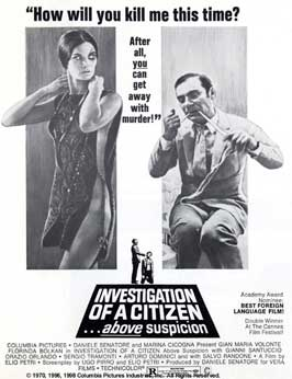 Investigation of a Citizen Above Suspicion - 11 x 17 Movie Poster - Style E
