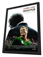 Invictus - 27 x 40 Movie Poster - Style A - in Deluxe Wood Frame