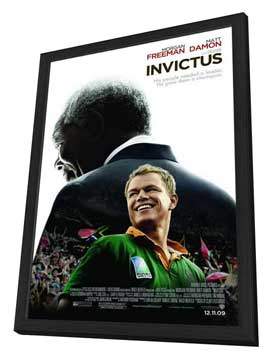 Invictus - 11 x 17 Movie Poster - Style A - in Deluxe Wood Frame