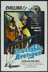 Invisible Avenger - 11 x 17 Movie Poster - Style B