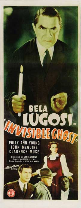 Invisible Ghost - 14 x 36 Movie Poster - Insert Style A