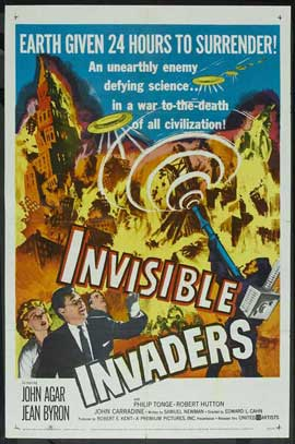 Invisible Invaders - 11 x 17 Movie Poster - Style A