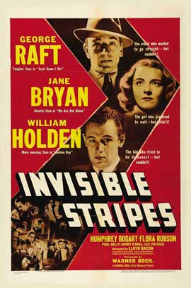 Invisible Stripes - 11 x 17 Movie Poster - Style A