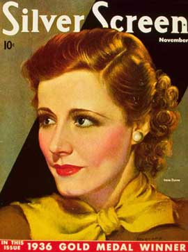 Irene Dunne - 11 x 17 Silver Screen Magazine Cover 1930's Style A