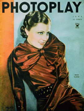 Irene Dunne - 11 x 17 Photoplay Magazine Cover 1930's Style A