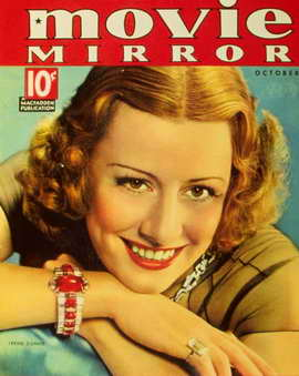 Irene Dunne - 11 x 17 Movie Mirror Magazine Cover 1930's Style A